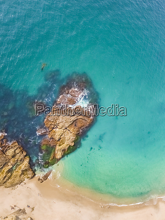 aerial view of victoria beach in