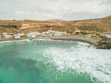 aerial view of village puertito de