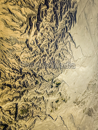 abstract aerial view of volcano bromo