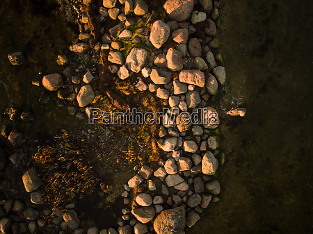 aerial view of rocky landscape in