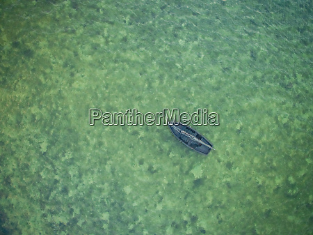 aerial view of a small sailing