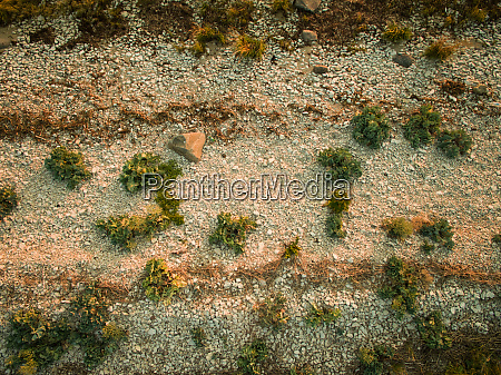abstract aerial view of a shingle