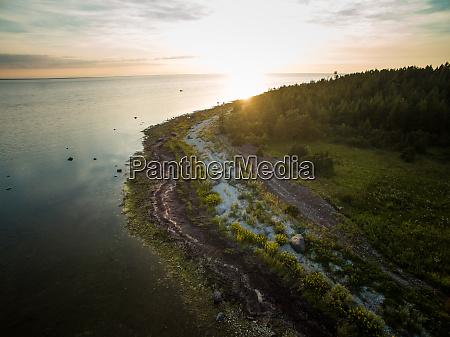 aerial view of the estonian coastline