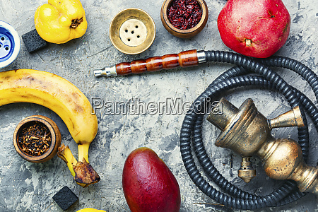 oriental fruit smoking hookah