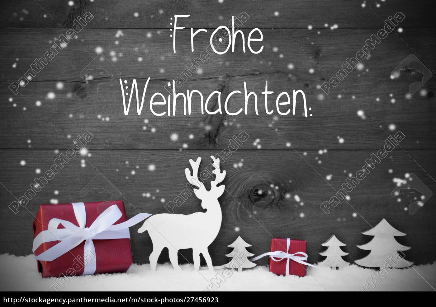 reindeer, , gift, , tree, , snowflakes, , frohe, weihnachten - 27456923