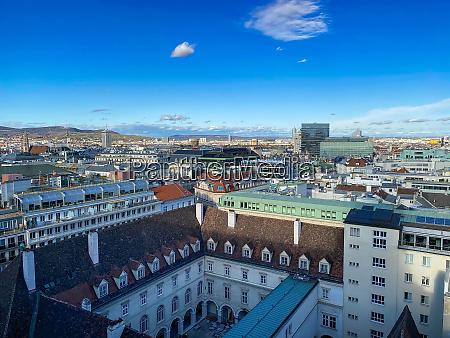 vienna cityscape high angle view