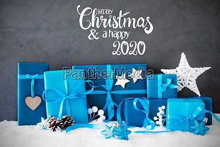 turquois gift snow merry christmas and
