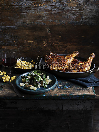 rustic still life with chipotle chicken
