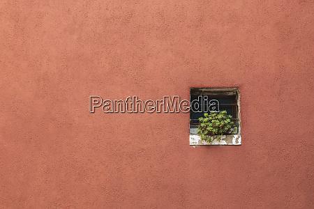 terracotta coloured stucco exterior house wall