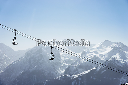 snow covered mountain landscape with ski