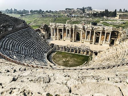 ruins of ancient theatre pamukkale ancient