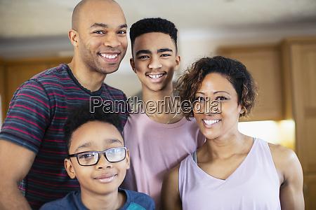 portrait happy family