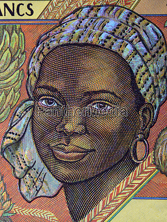 african woman a portrait from old