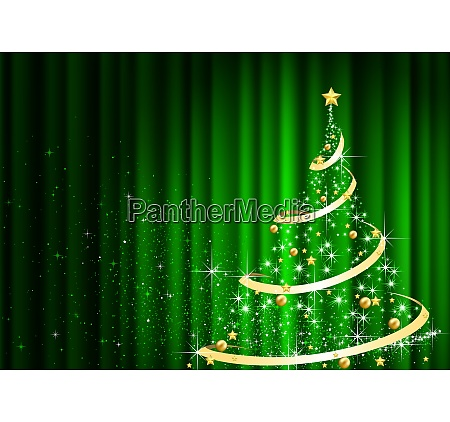 abstract christmas tree in front of