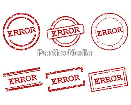 error stamps