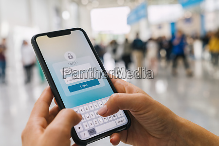 login with smartphone to online bank