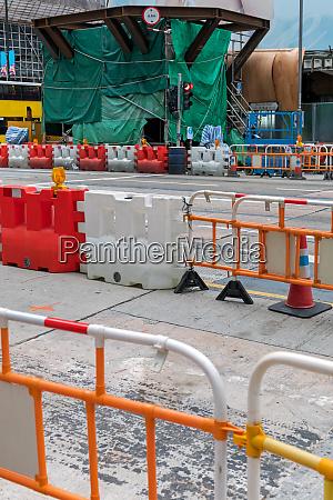 road works barrier