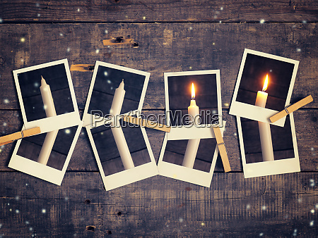 first candle burning advent background