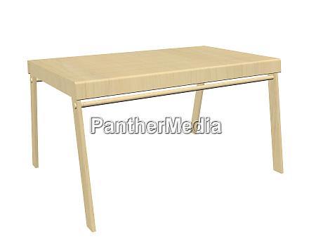 wooden table 3d illustration