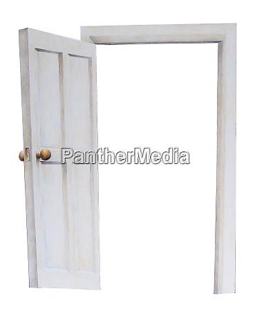open door color illustration