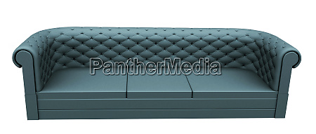turquoise three place leather or fabric