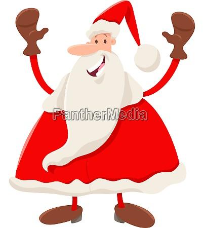happy santa claus cartoon character on