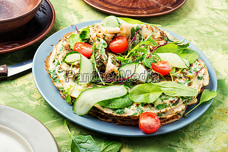 homemade, pancakes, with, herbs - 27466973