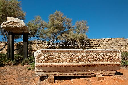 archeological remains at caesarea national park