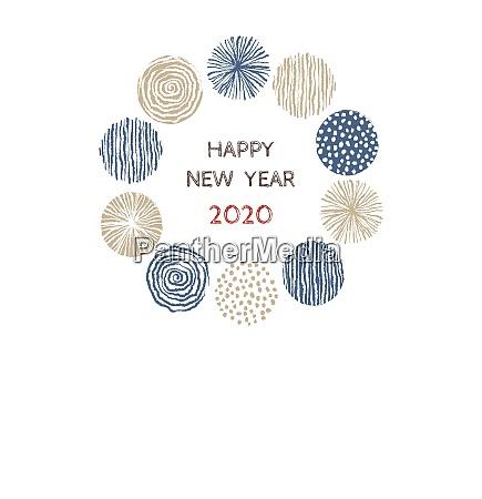 new year card with stylish scandinavian