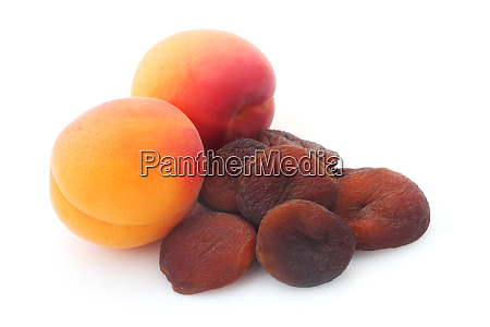 dried apricots isolated on white