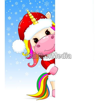 unicorn, baby, christmas, greeting, card - 27468556