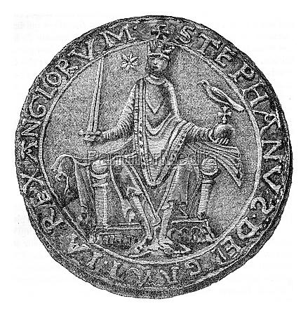 seal of stephen vintage engraving