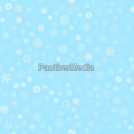 winter snow light seamless pattern