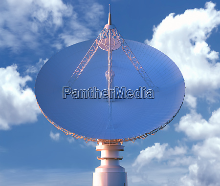 giant satellite dishe for signal clipping