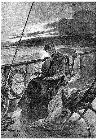 mrs branican remained on deck sitting