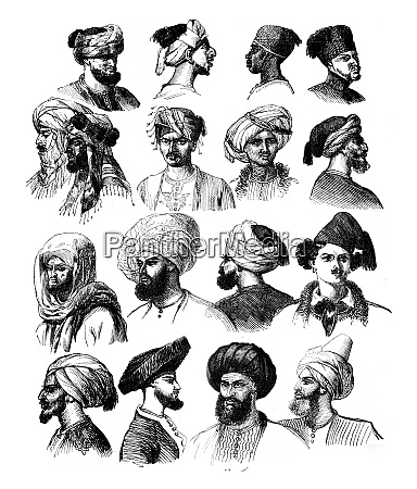 how to adjust the turbans vintage