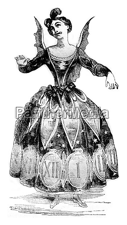 time costume vintage engraving