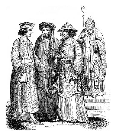 twelfth century bishop and lords vintage