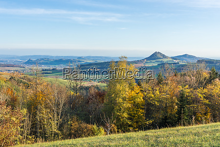 autumnal view from the outlook hegaublick
