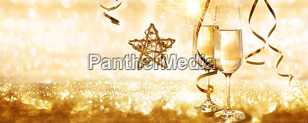 golden new years eve background