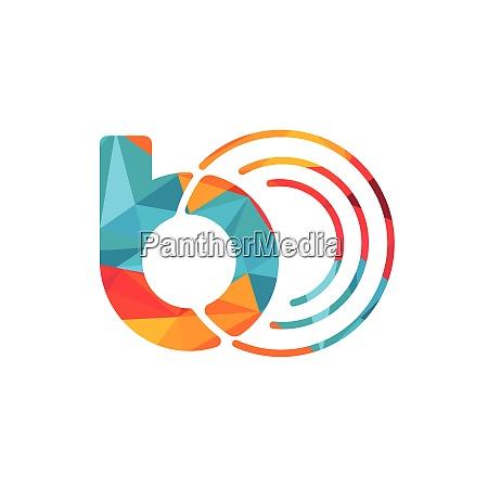 letter b logo design template for