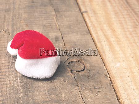 tiny little hat of santa on