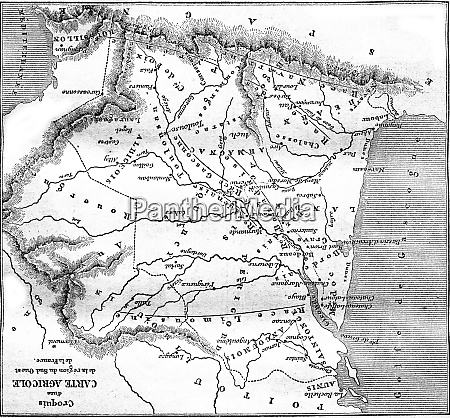 sketch of an agricultural map of