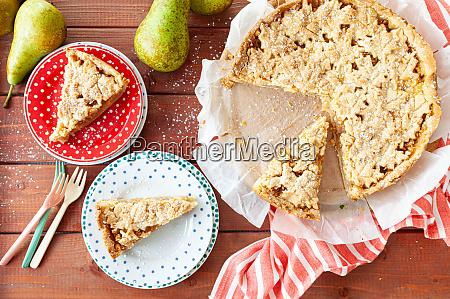 fresh fruit pie cake with