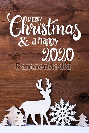 christmas tree snow deer merry christmas
