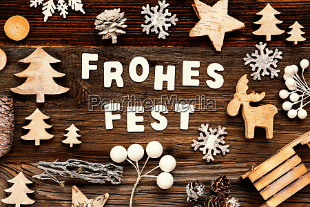 decoration frohes fest means merry christmas