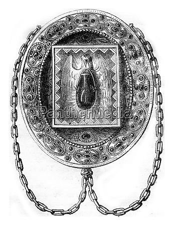 the blessed ampoule vintage engraving