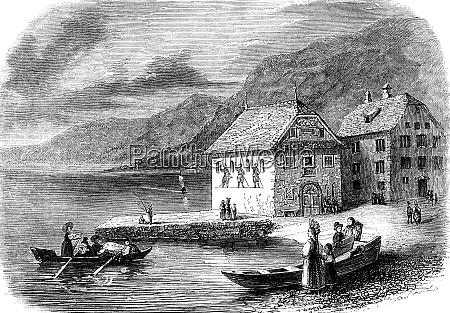 the port of brunnen in canton