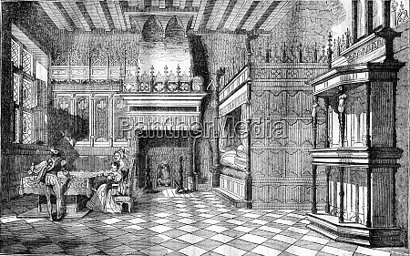 inside houses in the middle ages