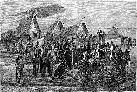 the punishment of yards vintage engraving